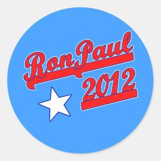 Ron Paul 2012 camisetas, engranaje de la campaña Pegatina Redonda