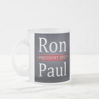 Ron Paul 2012 Campaign Coffee/Tea Cup 10 Oz Frosted Glass Coffee Mug
