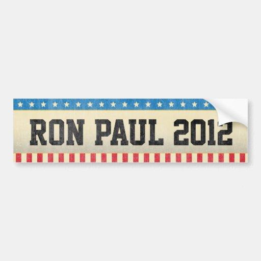 Ron Paul 2012 Car Bumper Sticker