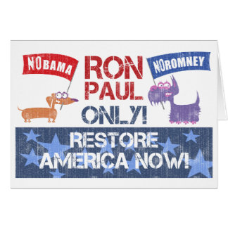 Ron Paul 2012 Greeting Card