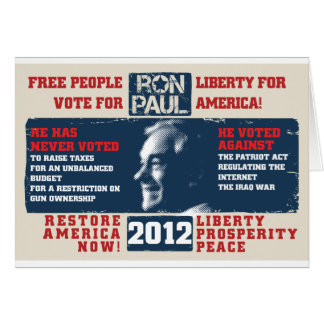 Ron Paul 2012 Cards