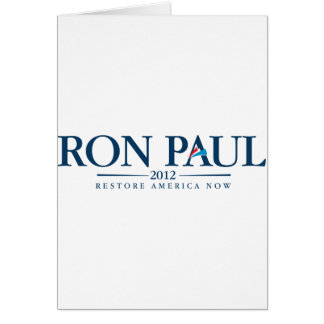Ron Paul 2012 Card