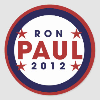 Ron Paul 2012 Classic Round Sticker