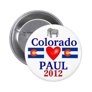 Ron Paul 2012 Colorado Pinback Button