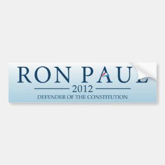 Ron Paul 2012 - Defensor de la constitución Etiqueta De Parachoque