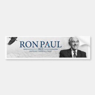 Ron Paul 2012 - Del restablecimiento de América pa Pegatina Para Auto
