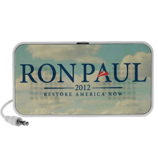 Ron Paul 2012 Doodle Portable Speaker