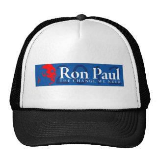 Ron Paul 2012 - El cambio que necesitamos Gorro De Camionero