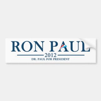 Ron Paul 2012 - El Dr. Paul para el presidente Pegatina Para Auto