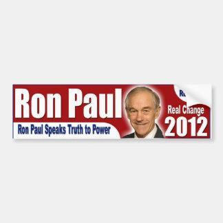 Ron Paul 2012 - Esperanza real, cambio real Pegatina Para Auto
