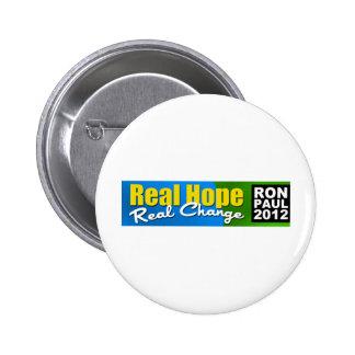 Ron Paul 2012: Esperanza real, cambio real Pin