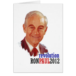 Ron Paul 2012 for President Card