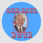 Ron Paul 2012 for President USA Round Stickers