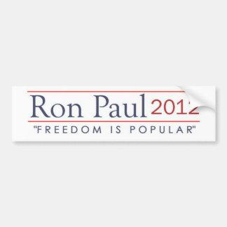 Ron Paul 2012 Freedom is Popular Bumper Sticker