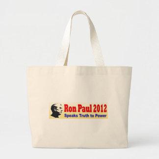 Ron Paul 2012 habla verdad al poder Bolsas Lienzo