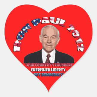 Ron Paul 2012 Heart Sticker