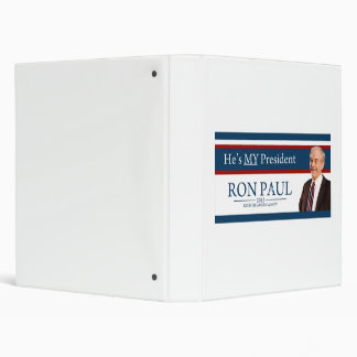Ron Paul 2012 He's My President 3 Ring Binder