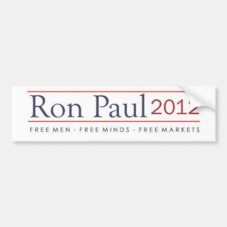 Ron Paul 2012 hombres libres libera mercados libre Pegatina De Parachoque