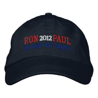 RON PAUL 2012 IN GOD WE TRUST Ladies Cap