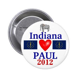 Ron Paul 2012 Indiana Pinback Button