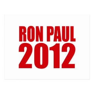 RON PAUL 2012 (intrépido) Postales