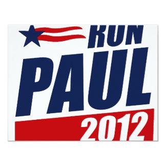 """RON PAUL 2012 INVITACIÓN 4.25"""" X 5.5"""""""