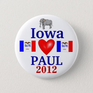 ron paul 2012 Iowa Pinback Button