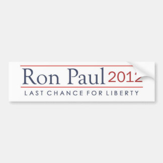 Ron Paul 2012 Last Chance for Liberty Bumper Sticker