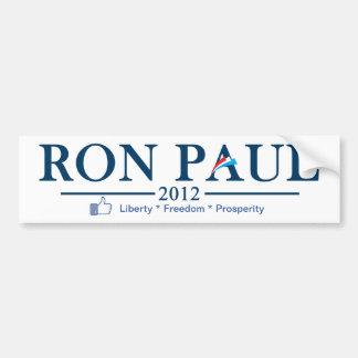 Ron Paul 2012 - Libertad * libertad * prosperidad Pegatina Para Auto