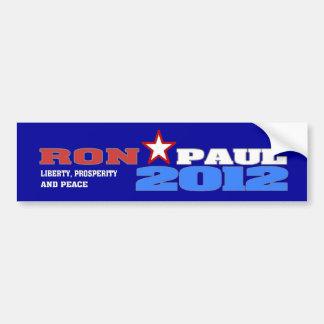 Ron Paul 2012 (libertad, prosperidad y paz) Pegatina Para Auto