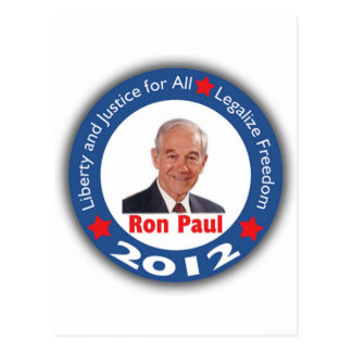 Ron Paul 2012: ¡Libertad y justicia para todos! Postal
