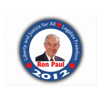 Ron Paul 2012: ¡Libertad y justicia para todos! Postales