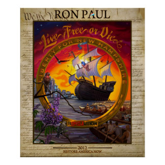 Ron Paul 2012: LIberty for New Hampshire Poster