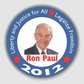 Ron Paul 2012: Liberty & Justice for All! Classic Round Sticker