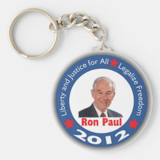Ron Paul 2012: Liberty & Justice for All! Keychain