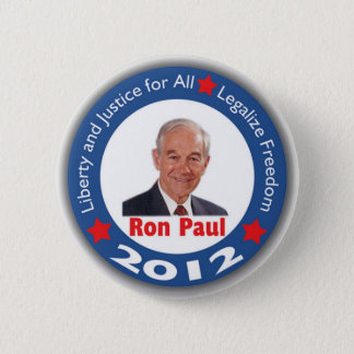 Ron Paul 2012: Liberty & Justice for All! Pinback Button