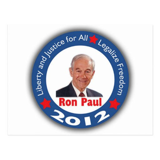 Ron Paul 2012: Liberty & Justice for All! Postcard