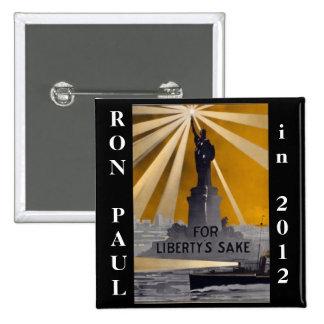 ron paul 2012 liberty pinback button