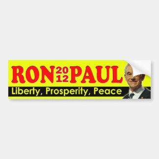 Ron Paul 2012 - Liberty, Prosperity, Peace Car Bumper Sticker