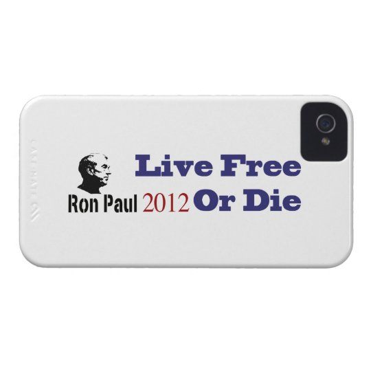 Ron Paul 2012 Live Free Or Die iPhone 4 Cover
