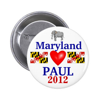 Ron Paul 2012 Maryland Pinback Buttons