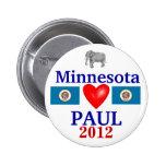 Ron Paul 2012 Minnesota Pinback Button