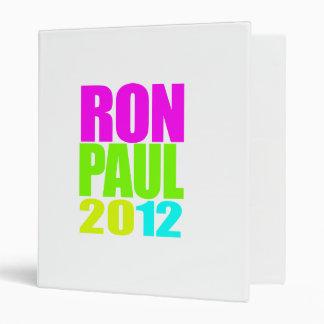 RON PAUL 2012 NEON VINYL BINDERS