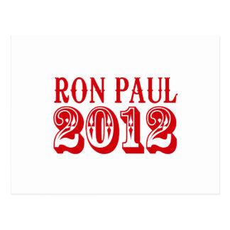 RON PAUL 2012 (occidental) Tarjeta Postal