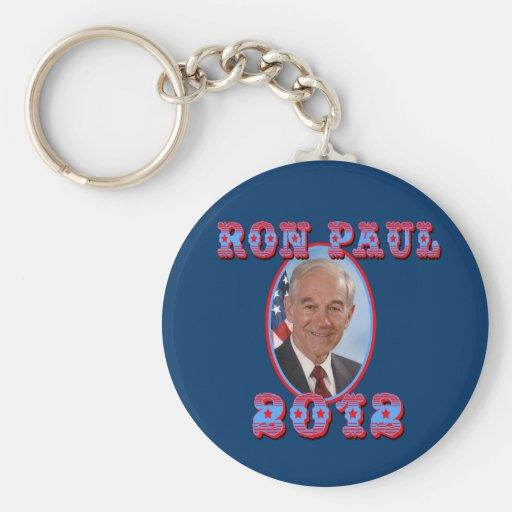 Ron Paul 2012 para el presidente los E.E.U.U. Llaveros