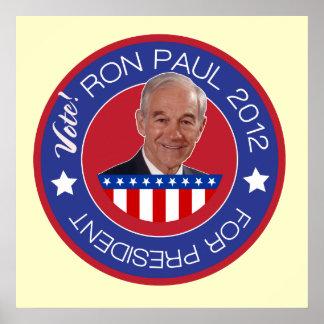 Ron Paul 2012 para el presidente Poster