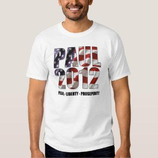 Ron Paul 2012 - Paz, libertad, prosperidad Playeras