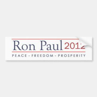Ron Paul 2012 Peace Freedom Prosperity Bumper Sticker