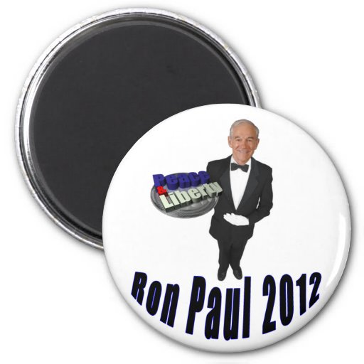 Ron Paul 2012 Peace & Liberty 2 Inch Round Magnet