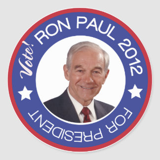Ron Paul 2012 Pegatina Redonda